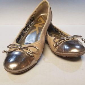Anne Klein Sport Tan/Rose Gold Ballet Flats Sz 6.5